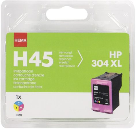 Afbeelding van HEMA HEMA H45 Kleur Vervangt HP 304XL Kleur