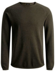Groene Jack & Jones - JJEHILL KNIT CREW NECK NOOS - Olive Night - Mannen - Maat S