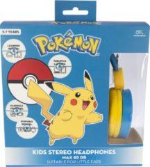 Pokémon koptelefoon Pikachu junior 95 cm blauw/geel