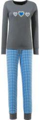 LaritaM Schlafanzug mit Druckmotiv Single-Jersey laritaM blau/grau