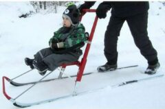 Zwarte Esla - Child support rack - for Kicksleds T6, T7 en T8
