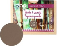 Donkerbruine ZAO essence of nature ZAO Refill Wenkbrauwpoeder 262 (Brown)
