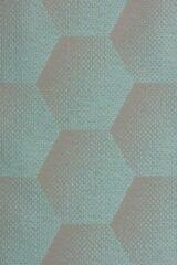 Sunbrella Hexagon J205 acqua blauw per meter voor tuinkussens, buitenstoffen, palletkussens