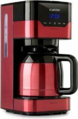 Klarstein Koffiezetapparaat Arabica 1,2L / 12 kopjes - 800W - permanent filter - Easy touch control - RVS - Rood