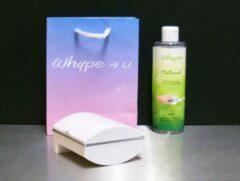 """Whype Dispenser wit, """" Het alternatief voor vochtig toiletpapier."""" introductieset"""