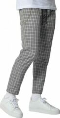 Grijze YCLO Elias Checkered Pants Black/White