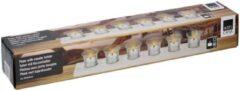 Witte Arti Casa Theelichthouder 6 glazen - 50x8x6 cm