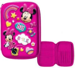 Disney Etui Minnie Mouse Meisjes 14 X 21 Cm Polyester/eva Roze