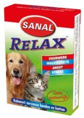 Sanal Relax Tablet - Antistressmiddel Kat/Hond - 15 stuks