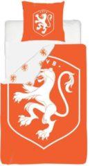 KNVB Lion - Dekbedovertrek - Eenpersoons - 140x200 cm + 1 kussensloop 60x70 cm - Oranje
