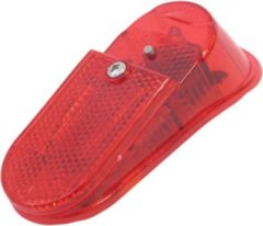 Rode Gazelle achterlicht Led XBA ovaal aan/auto/uit batterij - Fietsverlichting