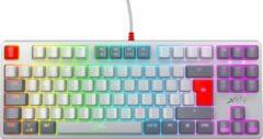 Grijze Xtrfy K4 TKL - Mechanisch Gaming toetsenbord met RGB Retro Edition - AZERTY Belgisch layout