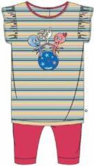 Woody pyjama baby meisjes - multicolor gestreept - octopus - 211-3-BAB-S/917 - maat 56