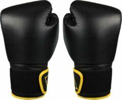 Avento bokshandschoenen PU unisex zwart/geel 8 Oz