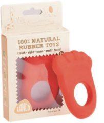 Rode Lanco Toys Lanco - Rubberen bijtring voetje