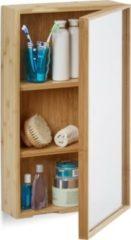 Relaxdays Bad Spiegelschrank mit Tür