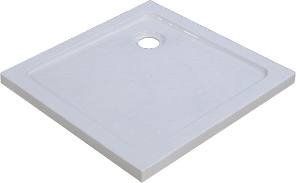 Afbeelding van Witte OTTO Hoekdouchebak , Douchebak 80 x 80 cm