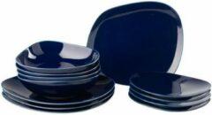 Blauwe GALLO by Villeroy & Boch Group LIKE BY VILLEROY & BOCH GROUP - Organic Dark Blue - Serviesset 12-dlg