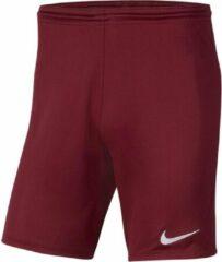 Bordeauxrode Nike Park III Sportbroek - Maat L - Mannen - bordeaux rood