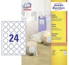 Avery Zweckform L3415-100 ronde etiketten, diameter 40 mm, 2400 etiketten, wit