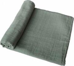 MUSHIE swaddle   Roman groen   BIBS   XL omslagdoek   hydrofiel