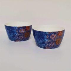 Blauwe Alperstein Designs Designkommen set van 2 - Alma Nungarrayi Granites - Aboriginal collectie