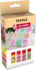 Talens Art Creation textielverf neon, flacon van 50 ml, set van 4 stuks