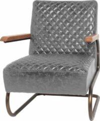 Lifestyle94 Lifestyle EDWARD SWING armchair Grey/grijs leren Fauteuil