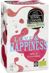 Royal Green Royal groen Love & happiness 16 Stuks