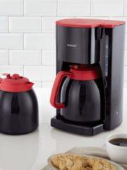 Koffiezetapparaat 10315 met 2 thermoskannen, zwart/rood Korona Zwart/rood