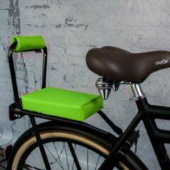 Groene Ohmiomine Complete Set : bagagedrager-kussen en rug-rolkussentje incl. voetsteuntjes en rugleuning