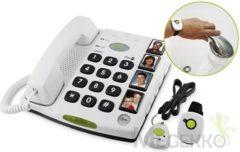 Doro Secure 347 seniorentelefoon met SOS alarm halszender en polsband