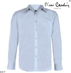 Blauwe Pierre Cardin heren overhemd stretch sky blue