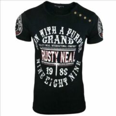 Zwarte Rusty Neal T-shirt heren - 15216