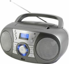 Zilveren Soundmaster SCD1800TI DAB+ Boombox met CD/MP3 speler, Bluetooth & USB