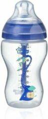 TOMMEE TIPPEE Anti-koliek fles 340ml blauw gedecoreerd