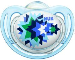 Blauwe Nuk Freestyle Fopspeen voor Kinderen vanaf 6 maanden Met Sterren – 13x4cm | Fopspeen voor Baby's en Peuters | Spenen 2 Pack