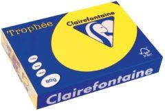 Papier kleur zonnegeel A4 80 g Clairefontaine Trophée levendige kleuren - Riem van 500 vellen