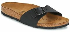 Zwarte Birkenstock Madrid Dames Slippers Small fit - Black - Maat 35