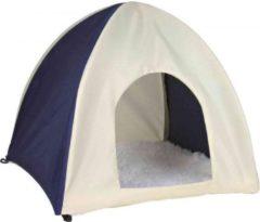Trixie knaagdierhuis wigwam nylon donkerblauw / beige 37x37x35 cm