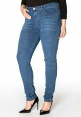 Yoek | Grote maten - dames jeans skinny fit - donkerblauw