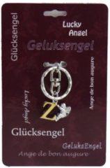 Zilveren Steengoed Geluksengel Sleutelhanger Z