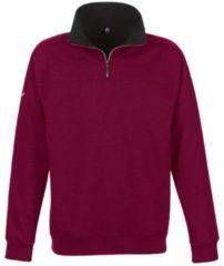 Herren Sweatshirt mit Reißverschluss Trigema chianti-melange