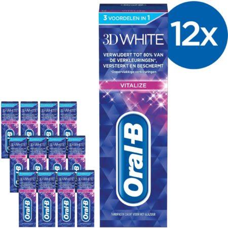 Afbeelding van Oral-B Oral B 3DWhite Brilliance - Voordeelverpakking 12 x 75ml - Tandpasta