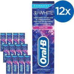 Oral-B Oral B 3DWhite Brilliance - Voordeelverpakking 12 x 75ml - Tandpasta