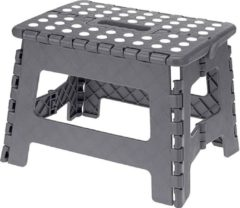 Grijze Homeplace.eu Folding Step Stool - The Lightweight Step Stool is Sturdy Enough to Support Adults and Safe Enough for Kids Grey
