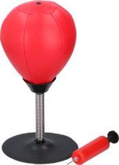 Rode Lifetime Games boksbal - op standaard - met zuignap, veer en pomp