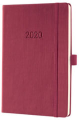 !weekagenda Sigel Conceptum A5 rosewood rood, 192 blz., 80 g 2 Pagina's = 1 Week