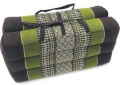 VDD Thai thoughts Meditatie en yoga zitkussen matje opvouwbaar draagbaar 40 cm x 40 cm x 7 cm Groen