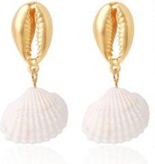 Gouden LGT JWLS LGT Jewels Damesoorbellen met Schelpvormige Pin